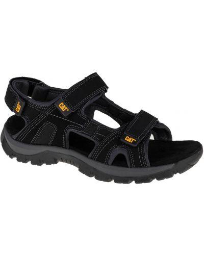 Czarne sandały skórzane Caterpillar