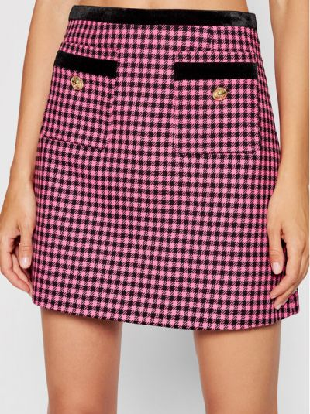 Różowa spódnica jeansowa Versace Jeans Couture