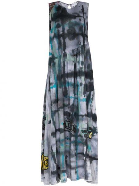 Bawełna czarny długo sukienka bez rękawów okrągły dekolt Collina Strada