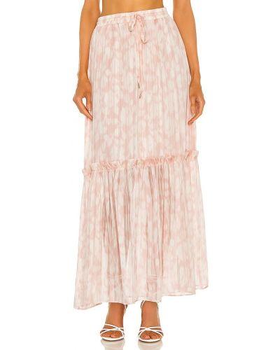 Розовая шифоновая юбка миди на резинке Bcbgmaxazria