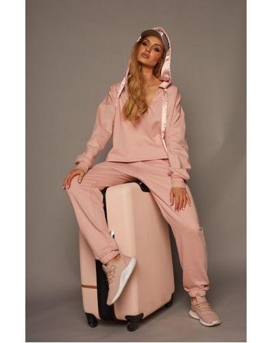 Розовый костюм с капюшоном Rossli