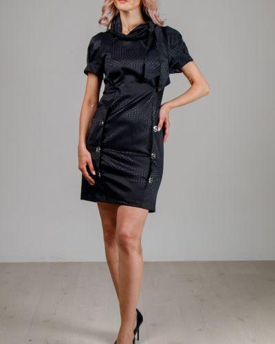 Приталенное платье-футляр на пуговицах со складками с воротником Lila Classic Style