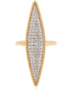 Żółty złoty pierścionek z diamentem Yvonne Leon Paris