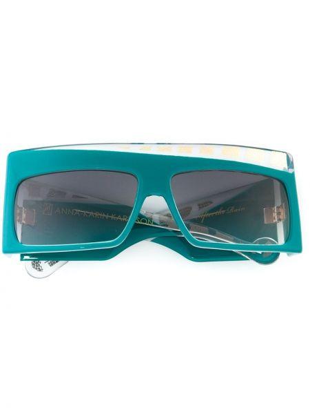 Муслиновые солнцезащитные очки хаки Anna Karin Karlsson