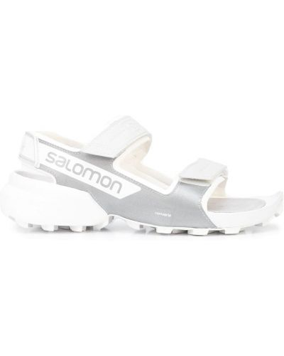 Gumowe białe sandały peep toe Salomon S/lab