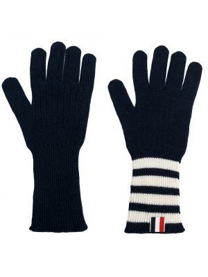 Z kaszmiru niebieskie rękawiczki Thom Browne