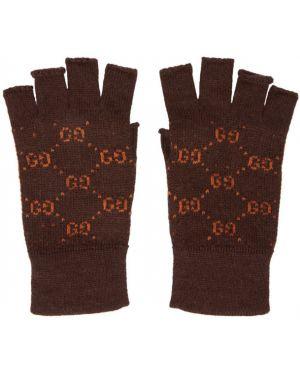 Rękawiczki wełniany z mankietami Gucci