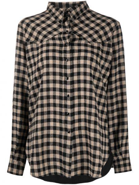 С рукавами классическая рубашка в клетку с воротником 8pm