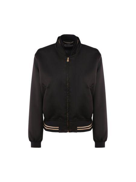 Бомбер с вышивкой черный Versace