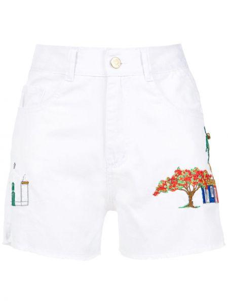 Хлопковые белые шорты с поясом Martha Medeiros