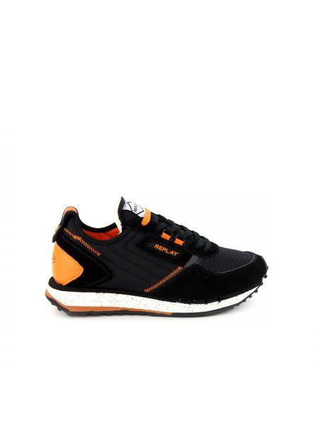 Czarne buty sportowe skorzane Replay