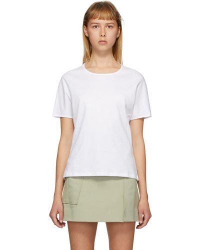 С рукавами белая рубашка с коротким рукавом с воротником с лебяжьим пухом Vejas