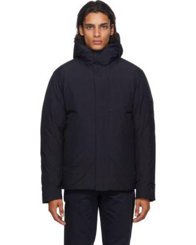 Puchaty pikowana kurtka prążkowany z długimi rękawami z mankietami Norse Projects