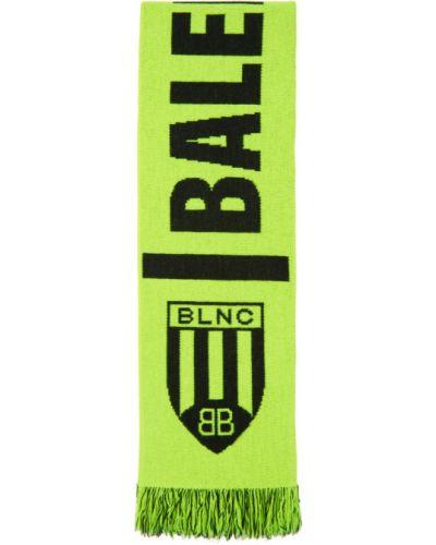 Черный шерстяной шарф Balenciaga