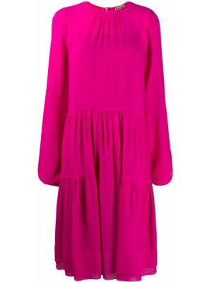 Платье миди средней длины - розовое N°21