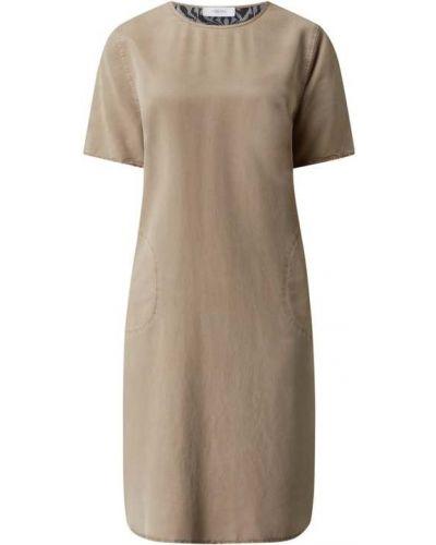 Sukienka rozkloszowana w paski - beżowa Blonde No. 8