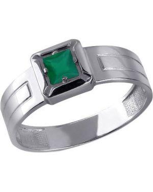 Кольцо с агатом - зеленое Aquamarine