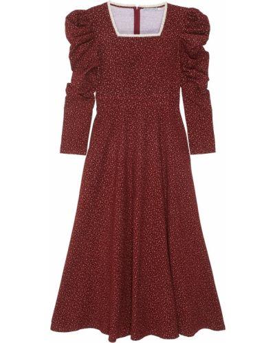 Платье с цветочным принтом вельветовое Arapkhanovi