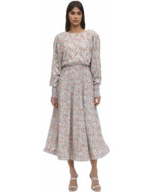 Ажурное платье макси с открытой спиной с манжетами Anouki
