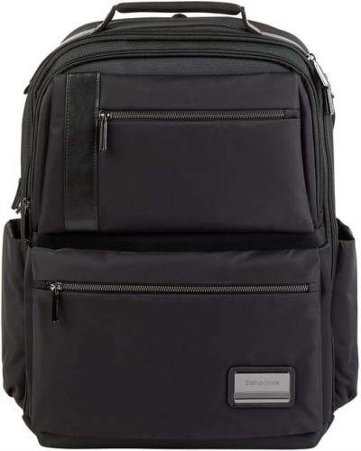Czarny plecak na laptopa w paski z nylonu Samsonite