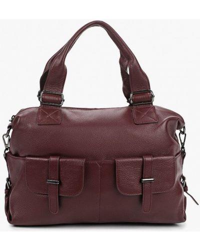 Красная сумка с ручками из натуральной кожи Valensiy