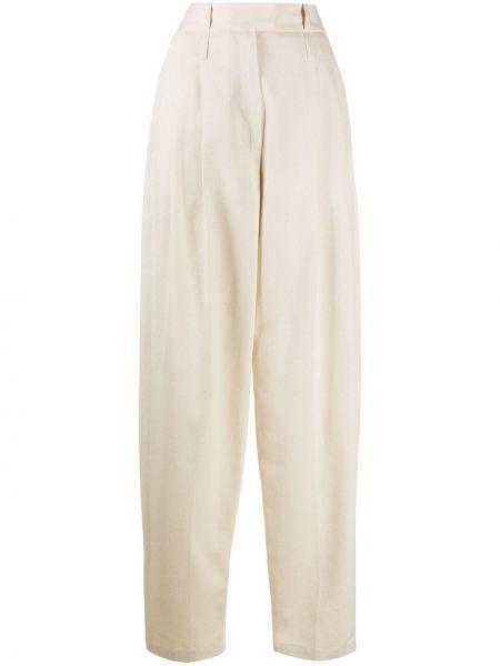 Хлопковые брюки с поясом с высокой посадкой на молнии Jejia