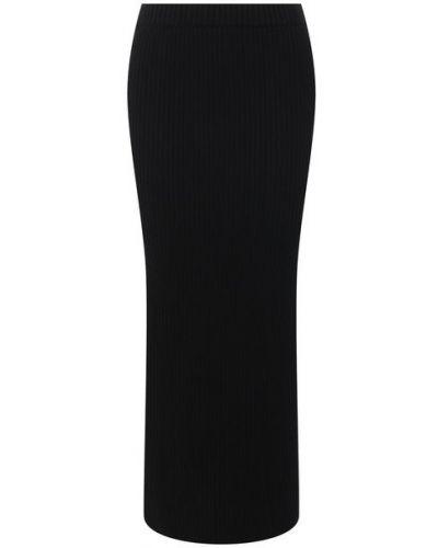 Шерстяная юбка - черная St. John
