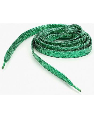 Зеленые шнурки на шнурках красная жара