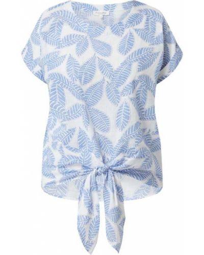 Niebieska bluzka bawełniana krótki rękaw Christian Berg Women