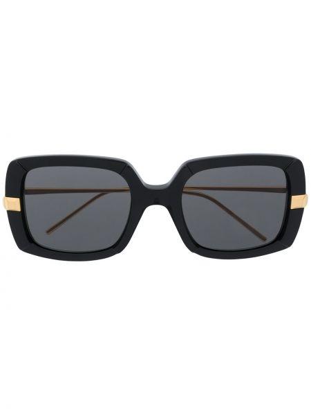 Золотистые прямые черные солнцезащитные очки металлические Boucheron Eyewear