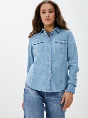 Голубая джинсовая рубашка Lee