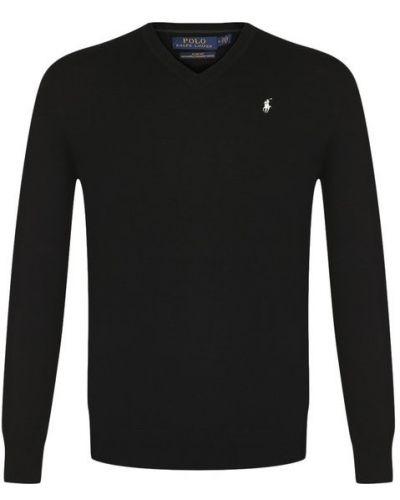 Черный свитер шерстяной Polo Ralph Lauren
