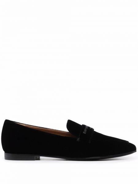 Loafers - czarne Emporio Armani