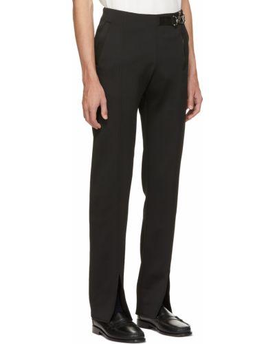 Czarne spodnie z siateczką Daniel W. Fletcher