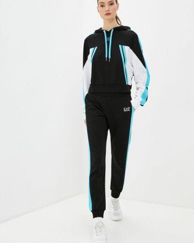 Костюмный черный спортивный костюм Ea7