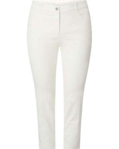 Białe jeansy bawełniane Samoon
