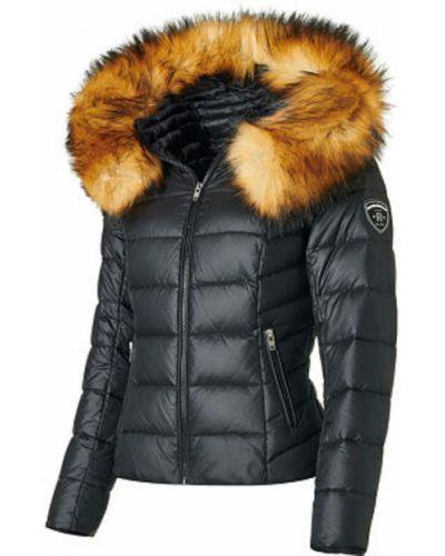 Czarna kurtka puchowa pikowana z nylonu Rockandblue