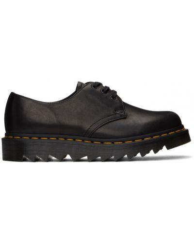 Ажурные кожаные черные пинетки на шнурках Dr. Martens