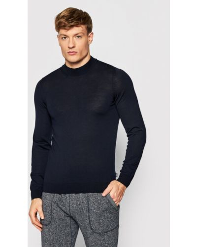 Sweter - granatowy Boss