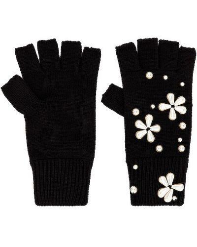 Rękawiczki bez palców - czarne Lele Sadoughi