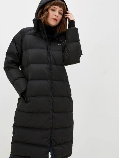 Зимняя куртка черная осенняя Lacoste