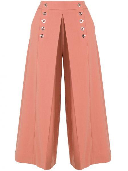 Szerokie spodnie przycięte z kieszeniami Alexander Wang