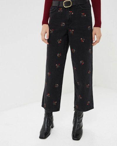 Широкие джинсы расклешенные черные Vila