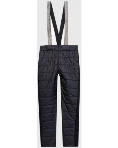 Прямые черные утепленные брюки Ostin