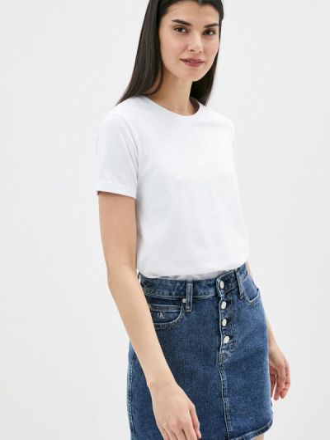 Белая футболка с короткими рукавами Teratai