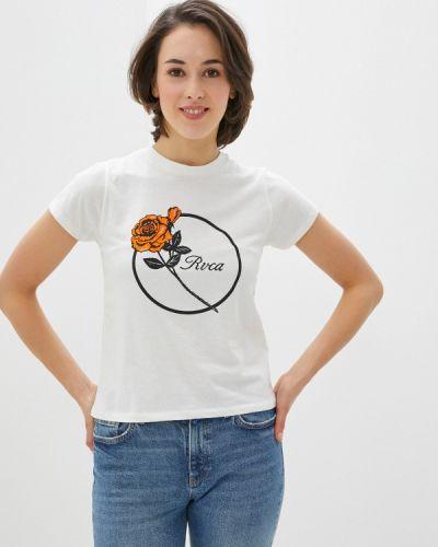 С рукавами белая футболка Rvca