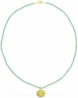 Zielony złoty naszyjnik szmaragd Hermina Athens