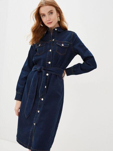 Джинсовое платье синее весеннее B.young