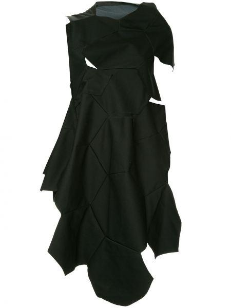 Шерстяное черное асимметричное платье винтажное Comme Des Garçons Pre-owned