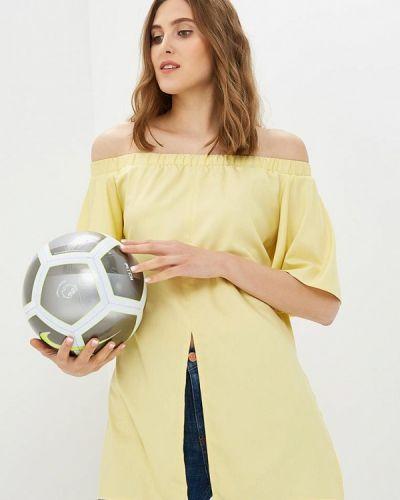 Желтая блузка с рюшами Vittoria Vicci